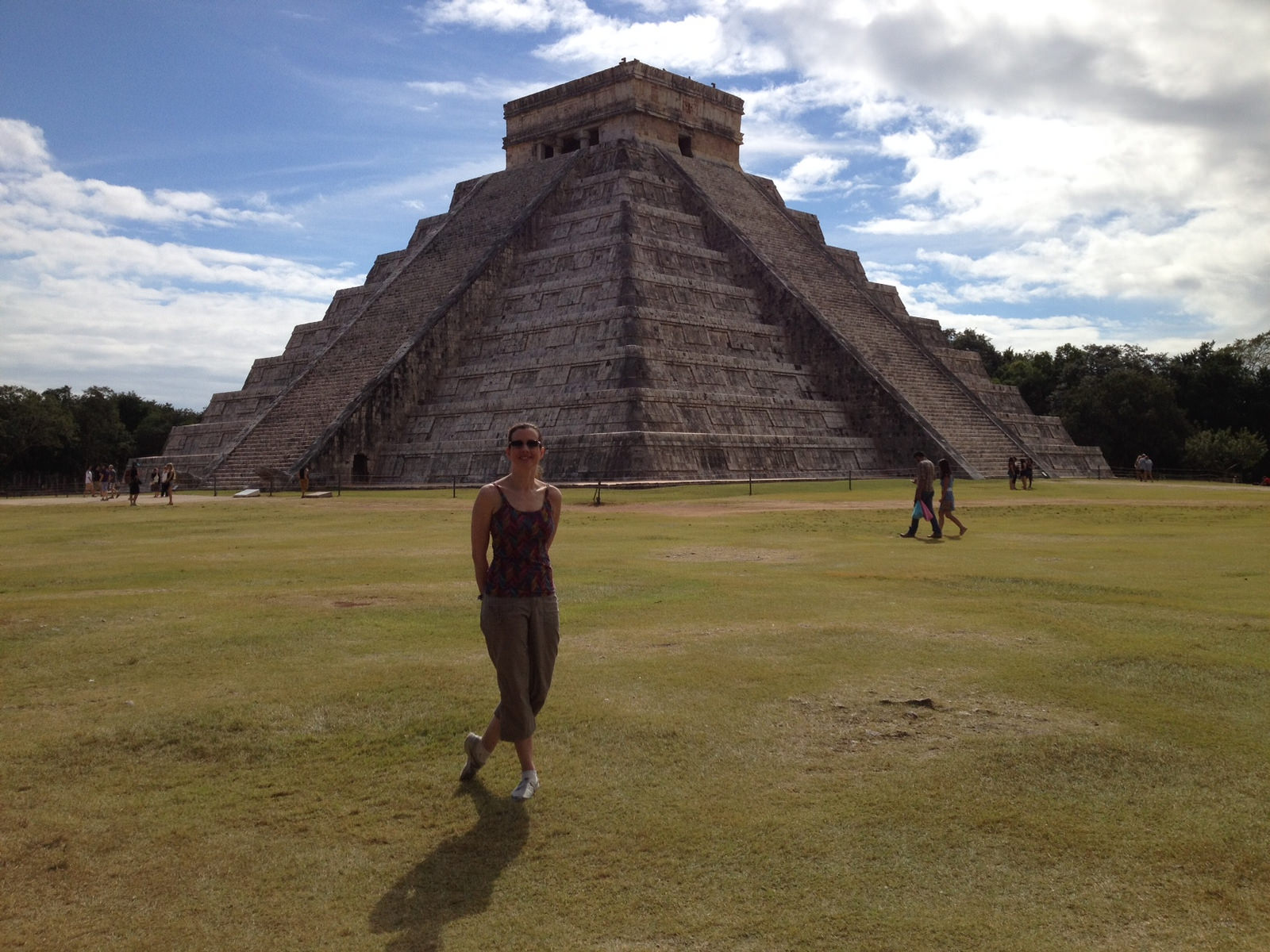 Christina Racek at the iconic Pyramid of Kukulkan