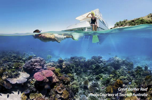 Great Barrier Reef - Photo courtesy of Tourism Australia