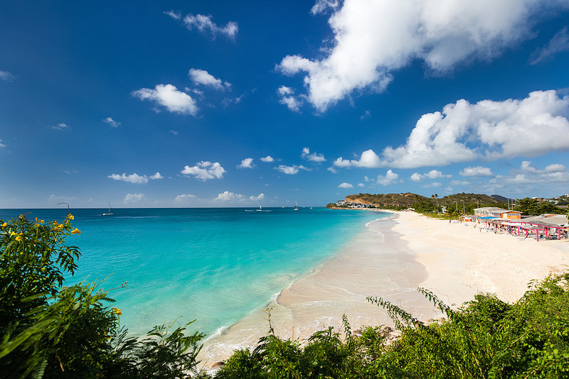 Beautiful beach in Antigua