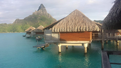 Joyce snapped this amazing photo from her over water bungalow in French Polynesia