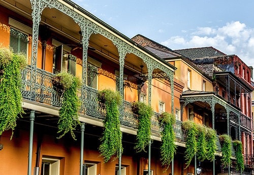 The ironwork accents are iconic in the French Quarter