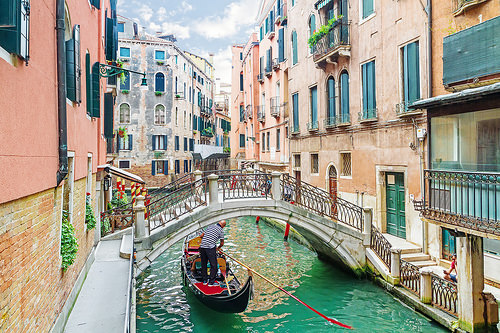 The canals of Venice, Italy