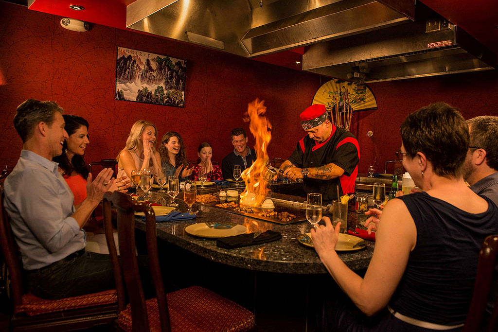 Shima's interactive Teppanyaki tables
