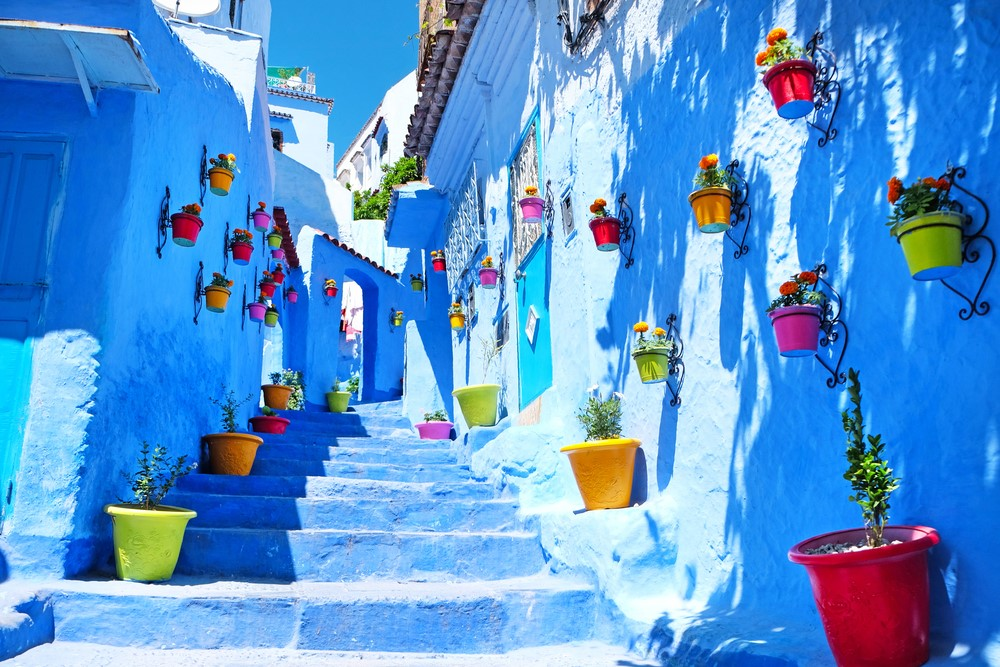 "Pete's recent trip to Morocco brought him to Chefchaouen, or the ""Blue Pearl of Morocco."""