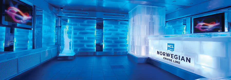 The Ice Bar on the Norwegian Breakaway