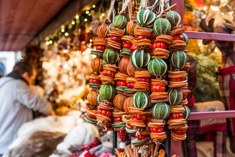 Snacks from a Christmas market