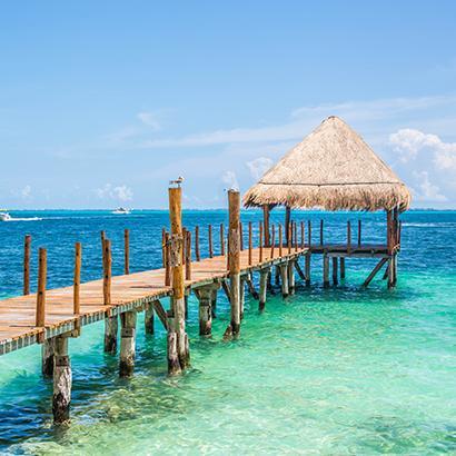 boardwalk to the ocean in Mexico
