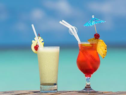 Caribbean cocktail drinks