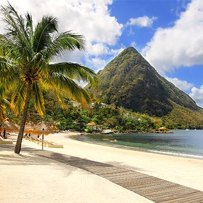 mountain in Saint Lucia