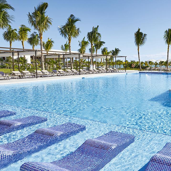 poolside at a Riu Resort and Spa in Mexico