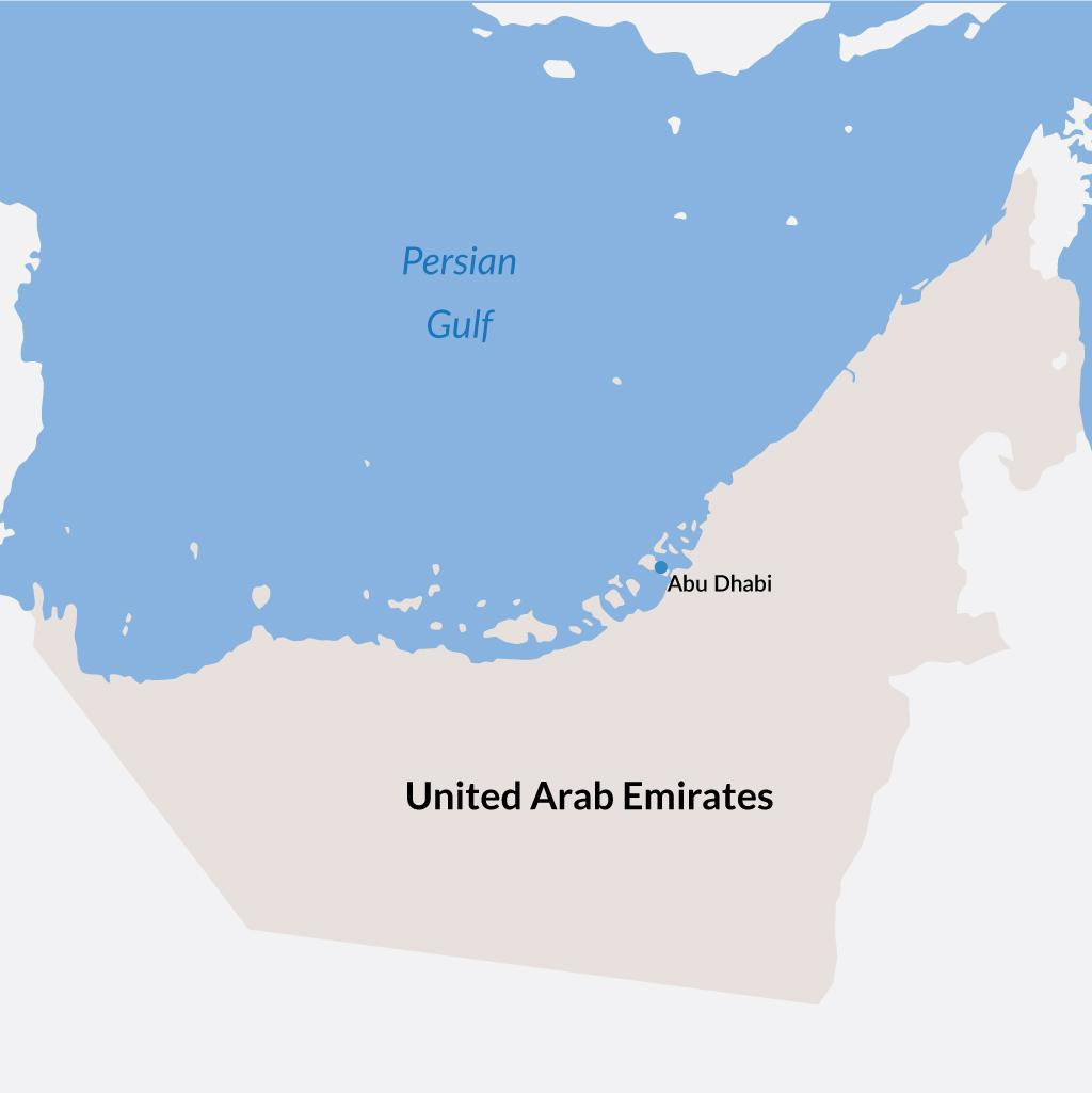 Abu Dhabi vacations map