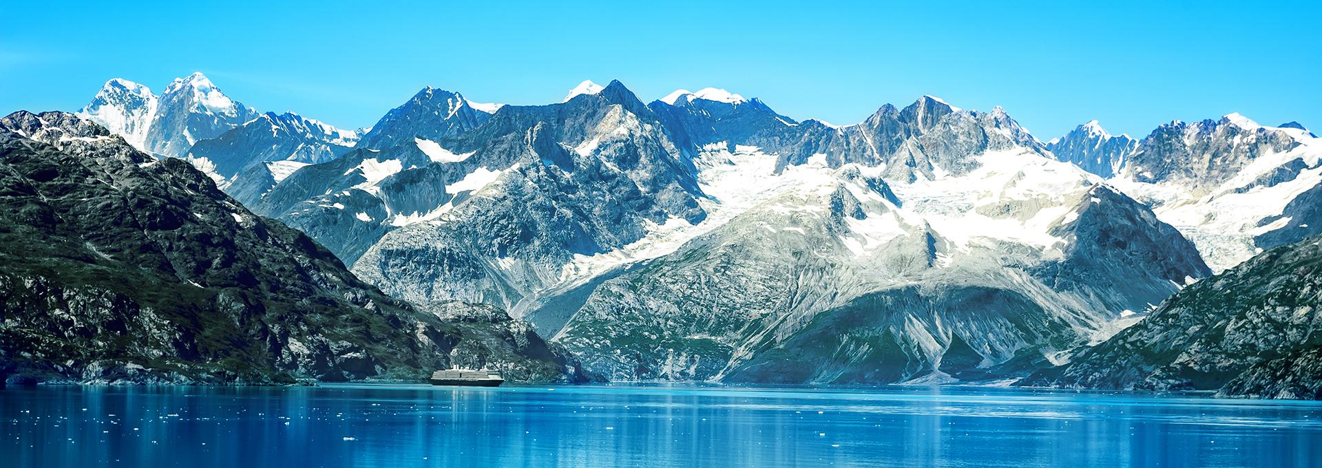 Incredible view of a glacier in Alaska