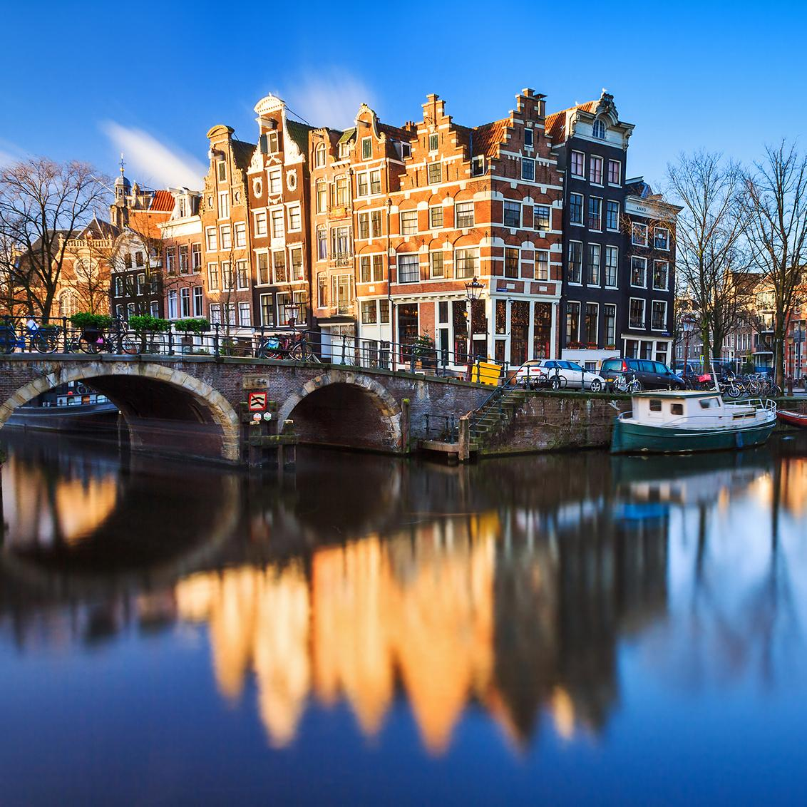 Views of Amsterdam's canals and riverways