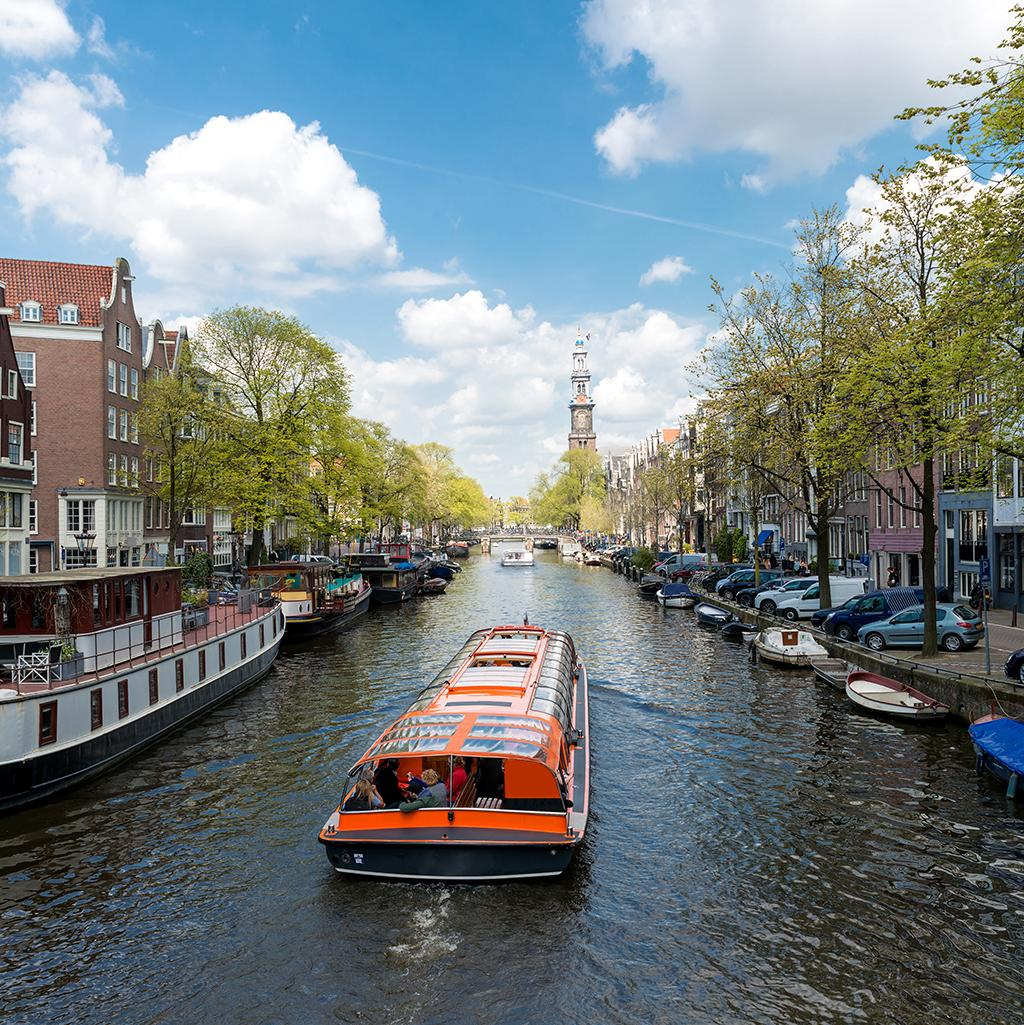 Cruising down Amsterdam's canals