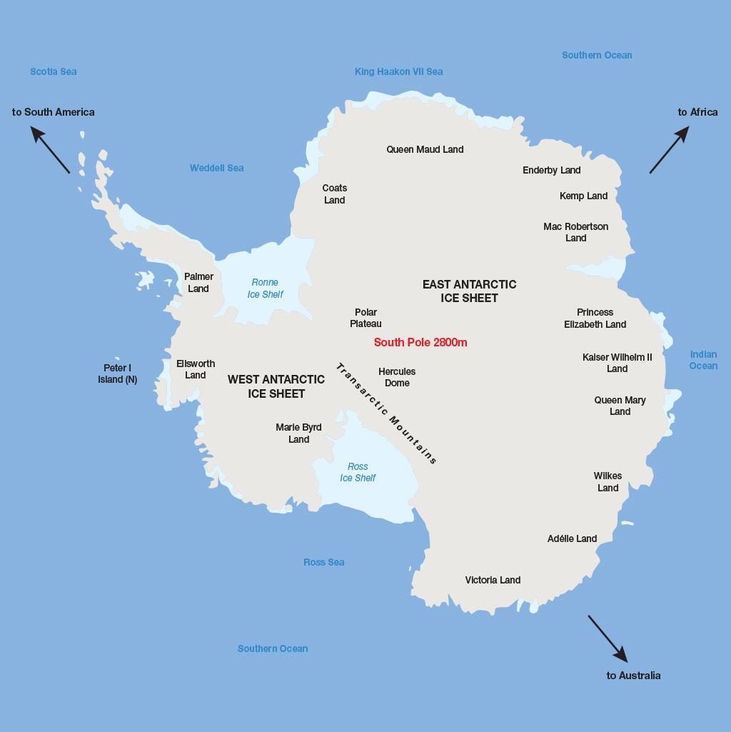 Antarctica vacations map
