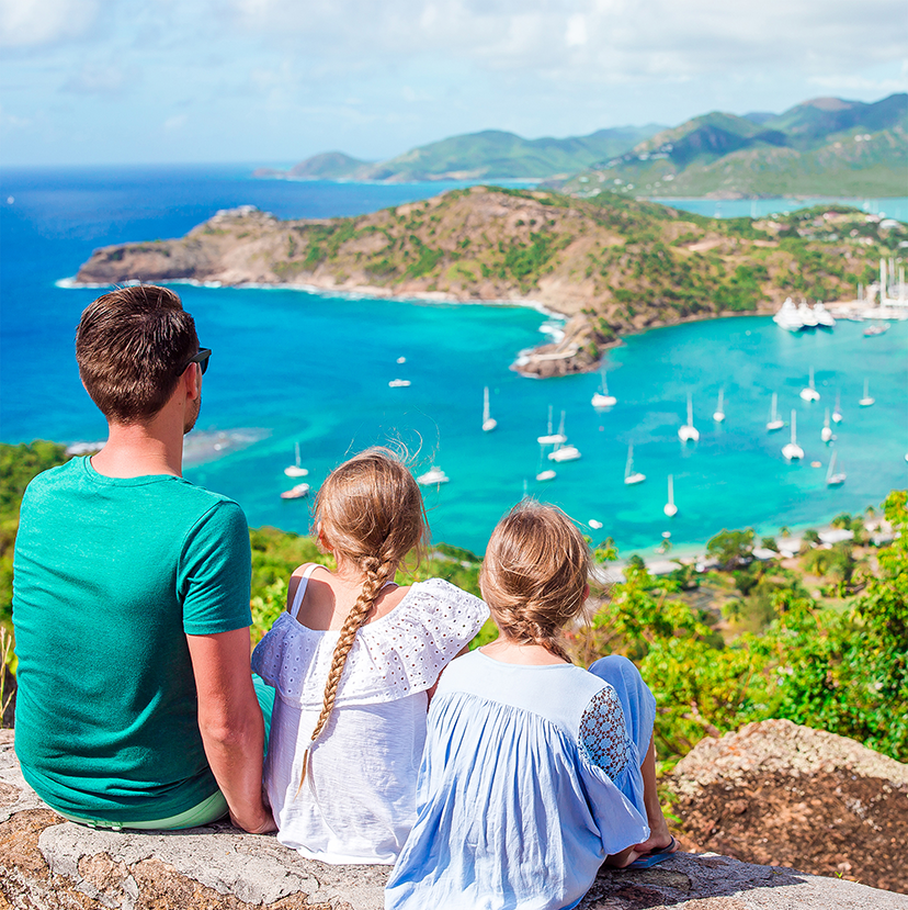View of English Harbour on Antigua vacation