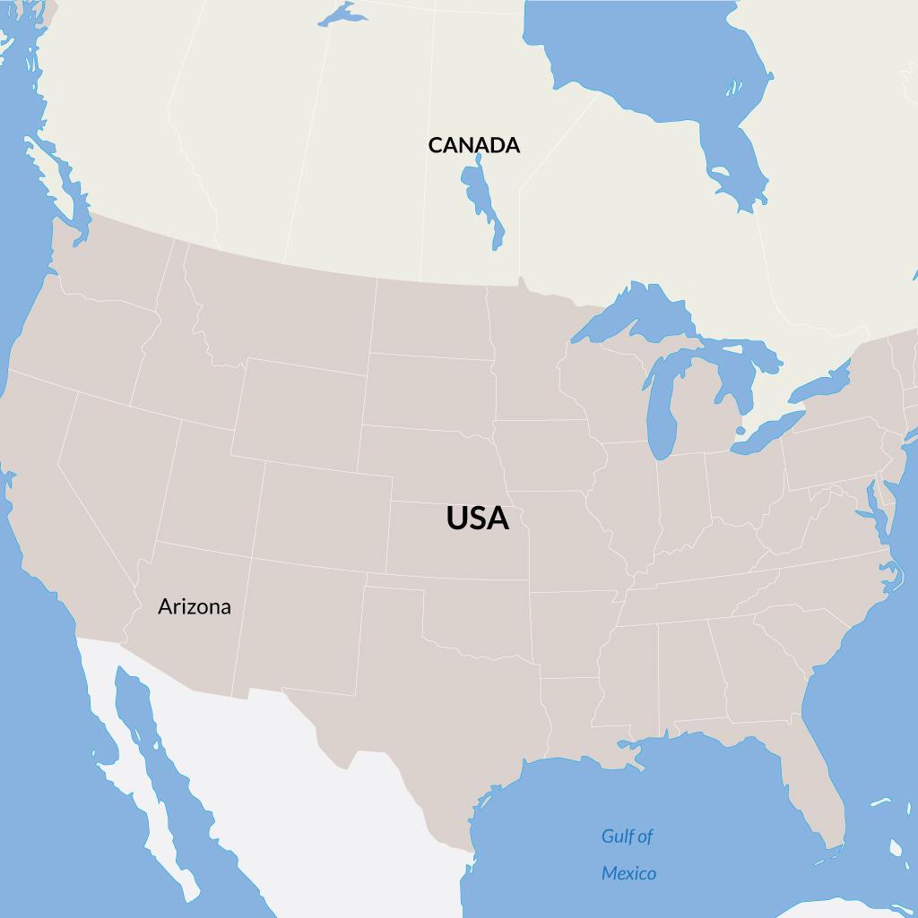 Arizona vacations map