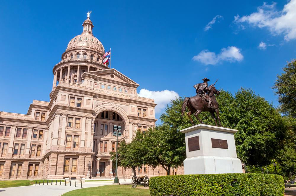 Famous Capitol building in Austin, Texas
