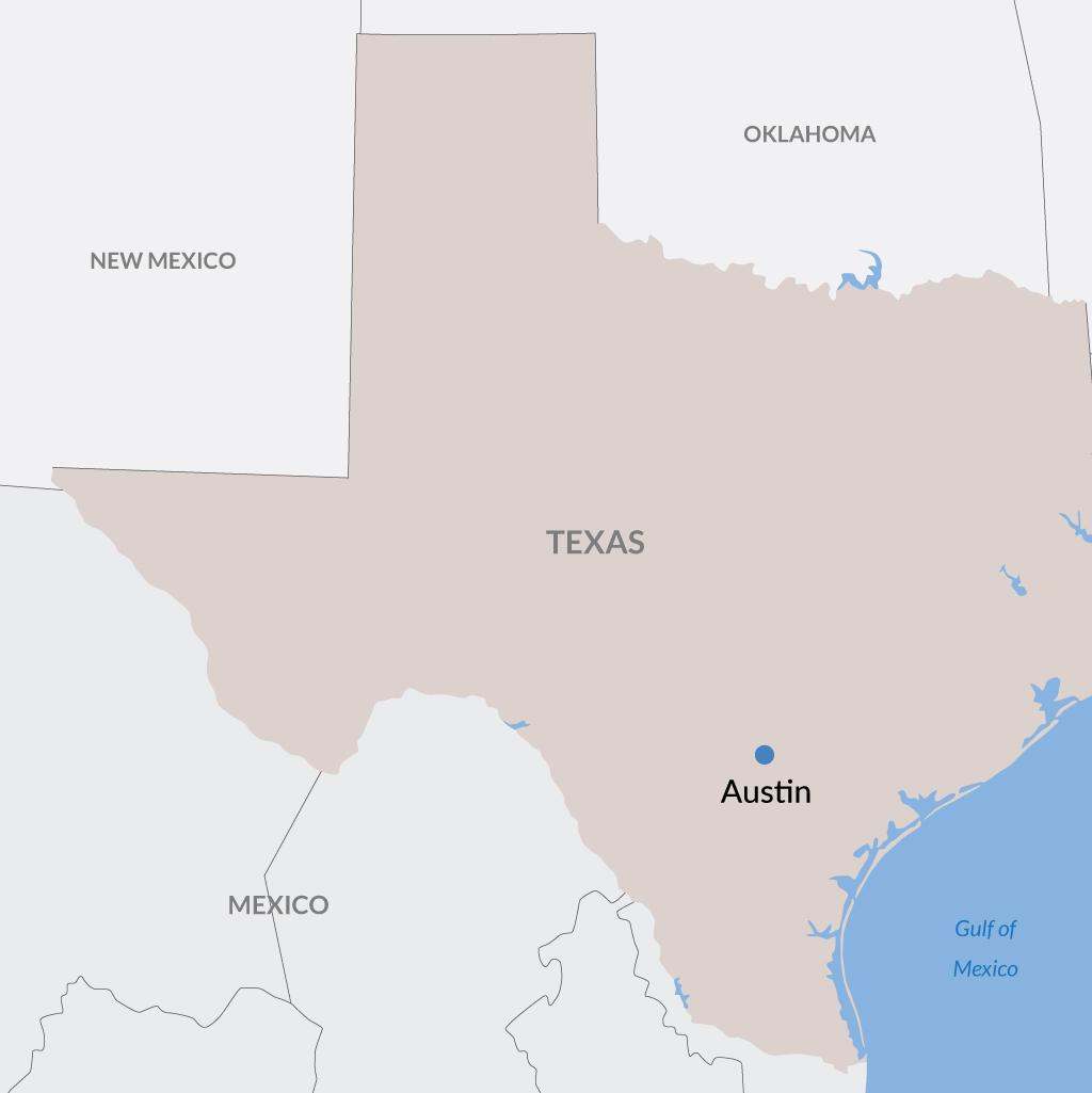 Austin vacations map