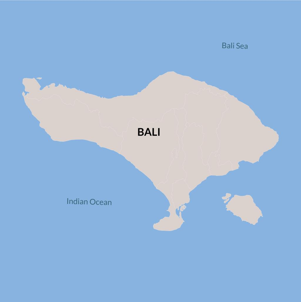 Bali vacation map