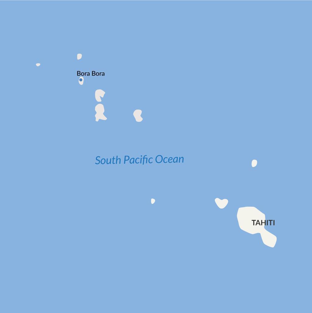 Bora Bora vacations map