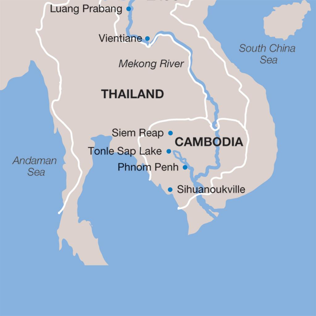 Cambodia vacations map