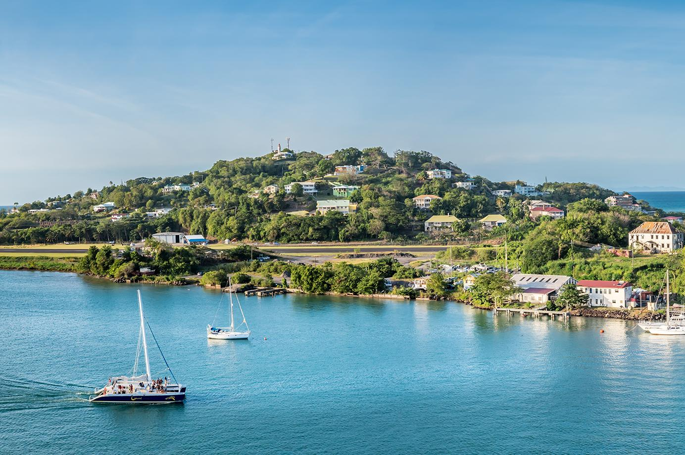Views of Castries Harbor in St. Lucia