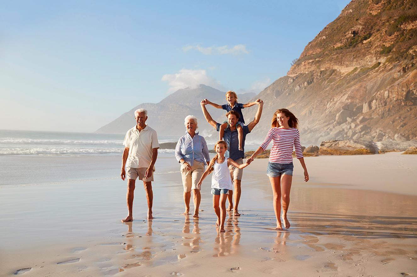 A group vacation celebration  is just what your family needs