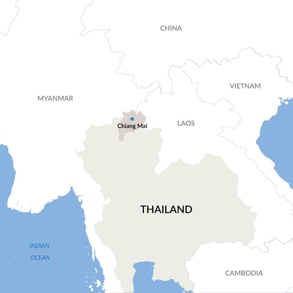 Chiang Mai vacations map