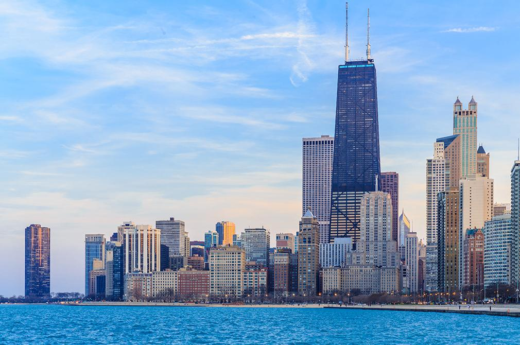Views of Chicago's skyline from the water