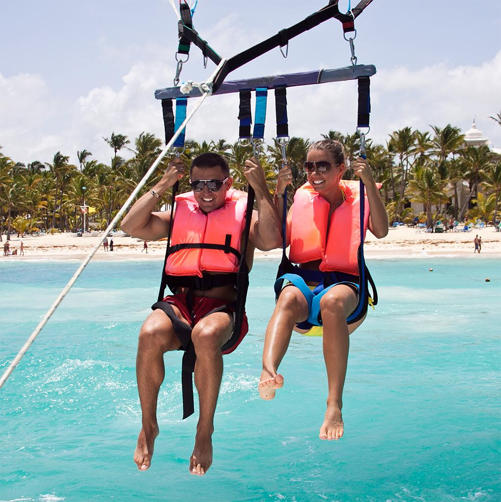 Parasailing on Dominican Republic vacation packages