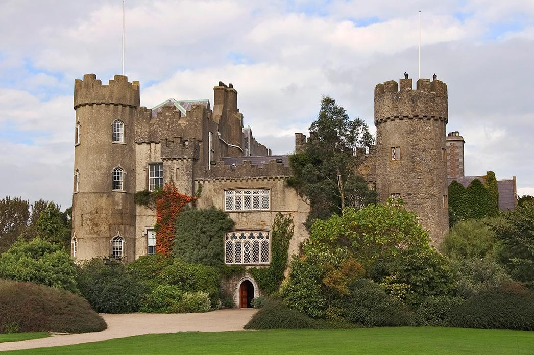 Views of Malahide Castle in Dublin, Ireland