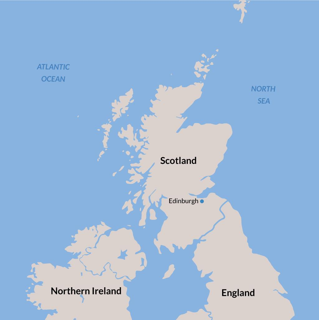 Edinburgh vacations map