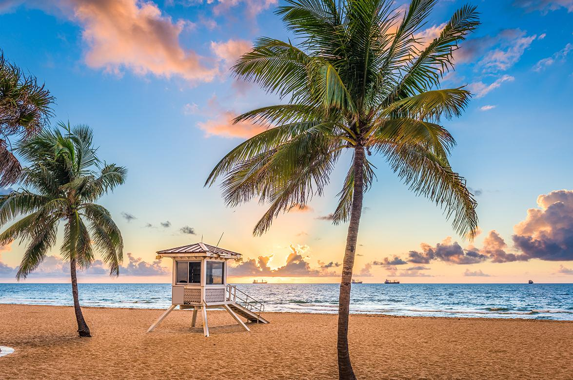Beaches and waterfront view in Fort Lauderdale, Florida