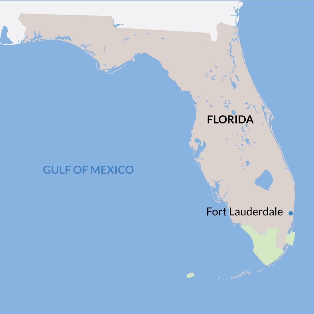 Fort Lauderdale vacations map