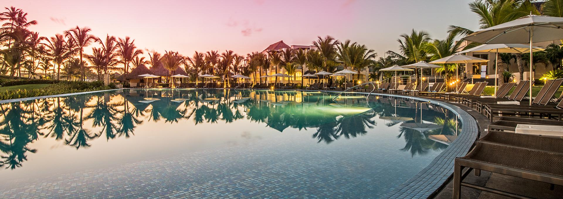 pool view of Hard Rock Hotel in Punta Cana