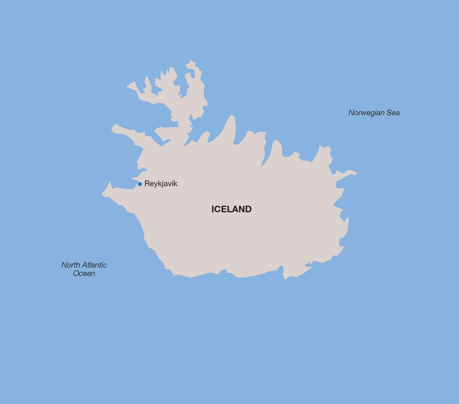 Iceland vacation map