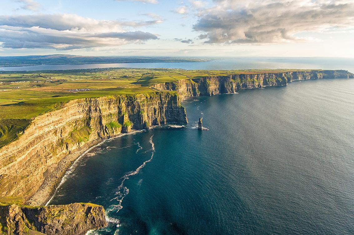 Stunning image of Ireland's Cliffs of Moher meeting the sea