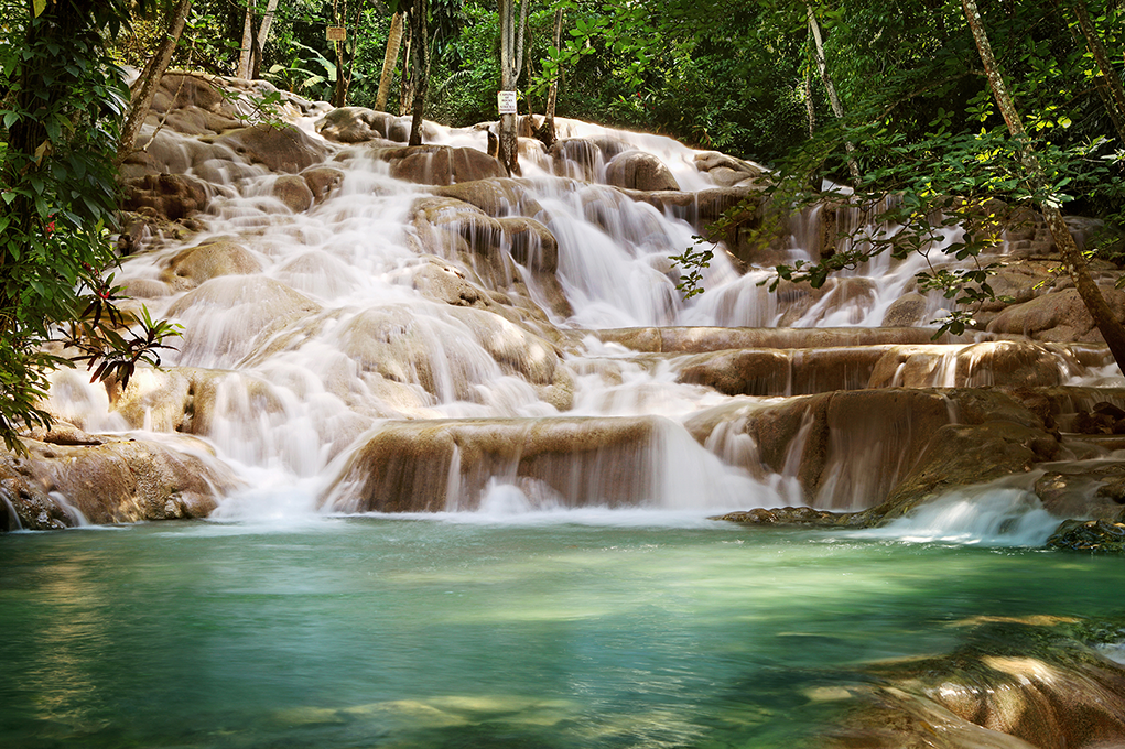 One of Jamaica's beautiful waterfalls
