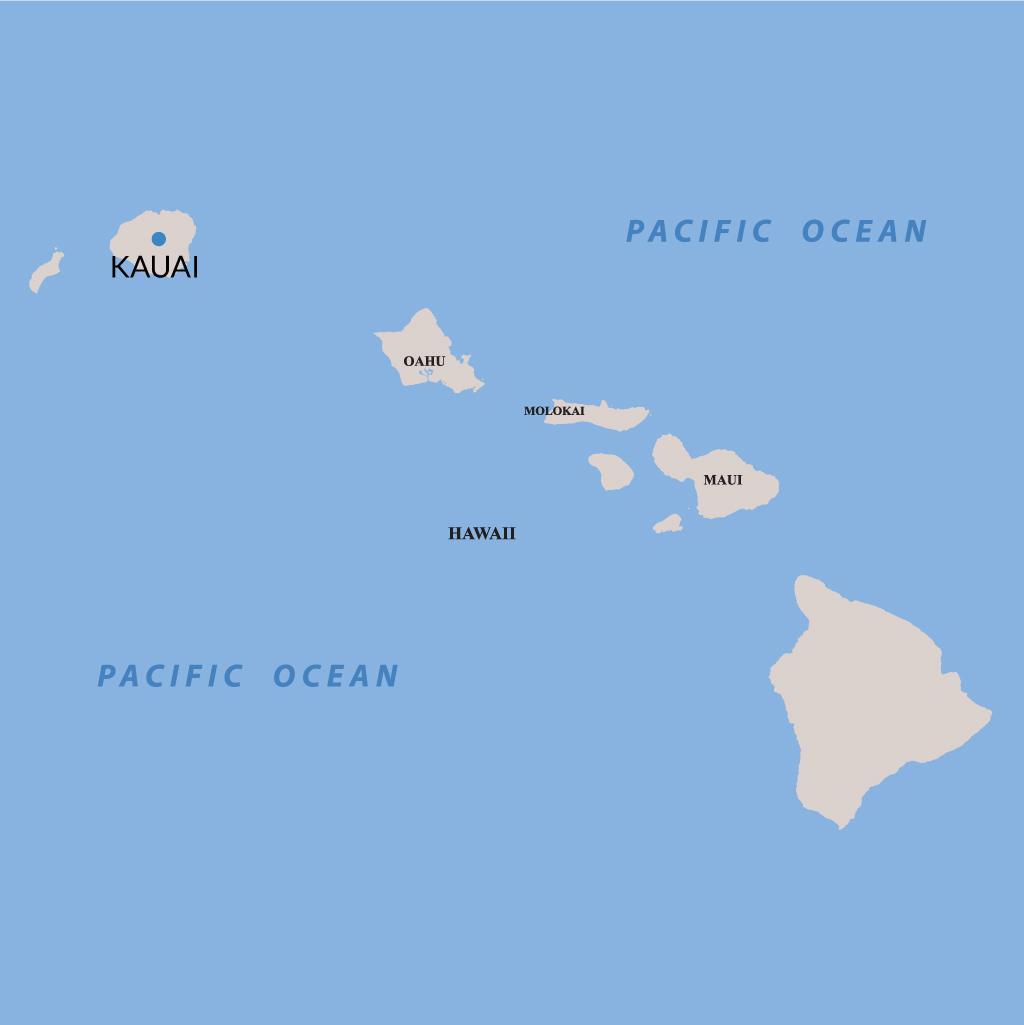 Kauai vacations map