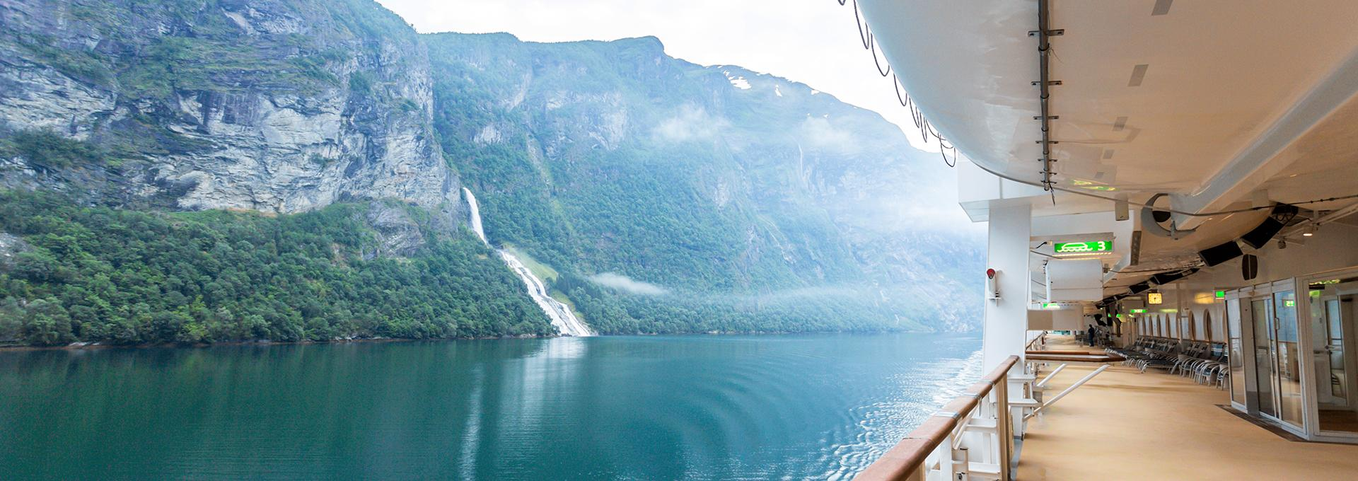 Fjord views aboard a cruise with Liberty Travel vacations