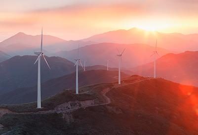 Wind turbines providing renewal energy