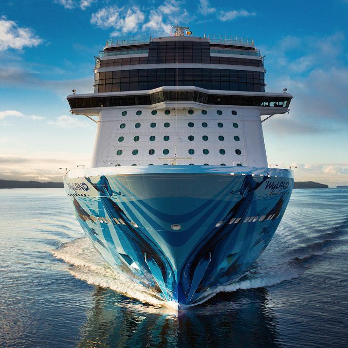 Norwegian Cruise Line ship at sea