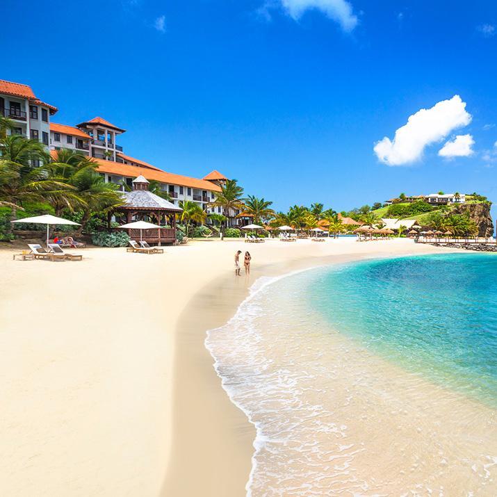 Beach at a Sandals resort