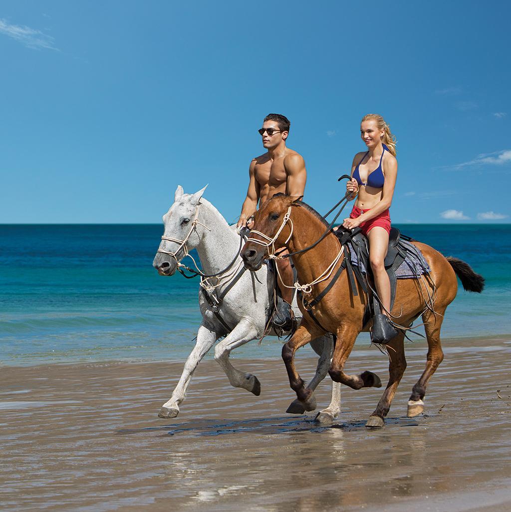 Horseback riding on the beach in La Romana