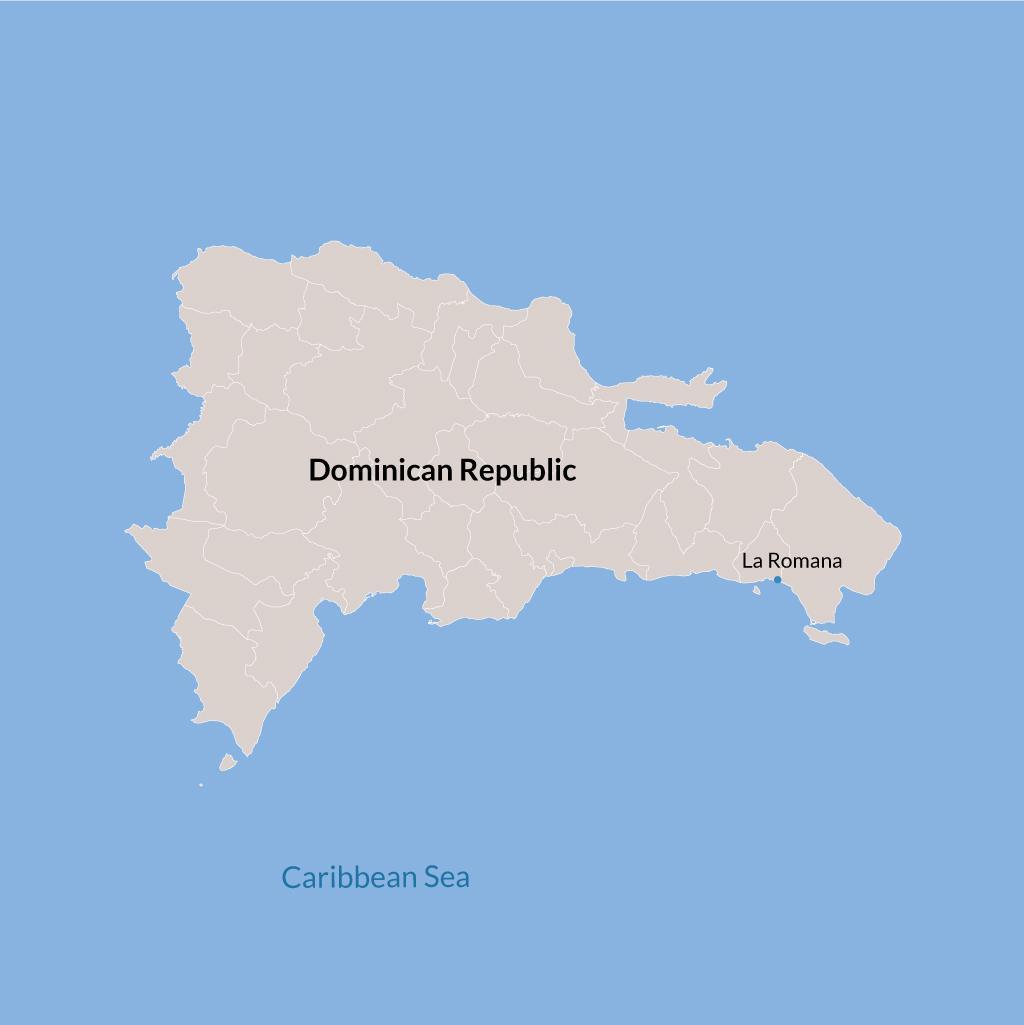 La Romana vacations map