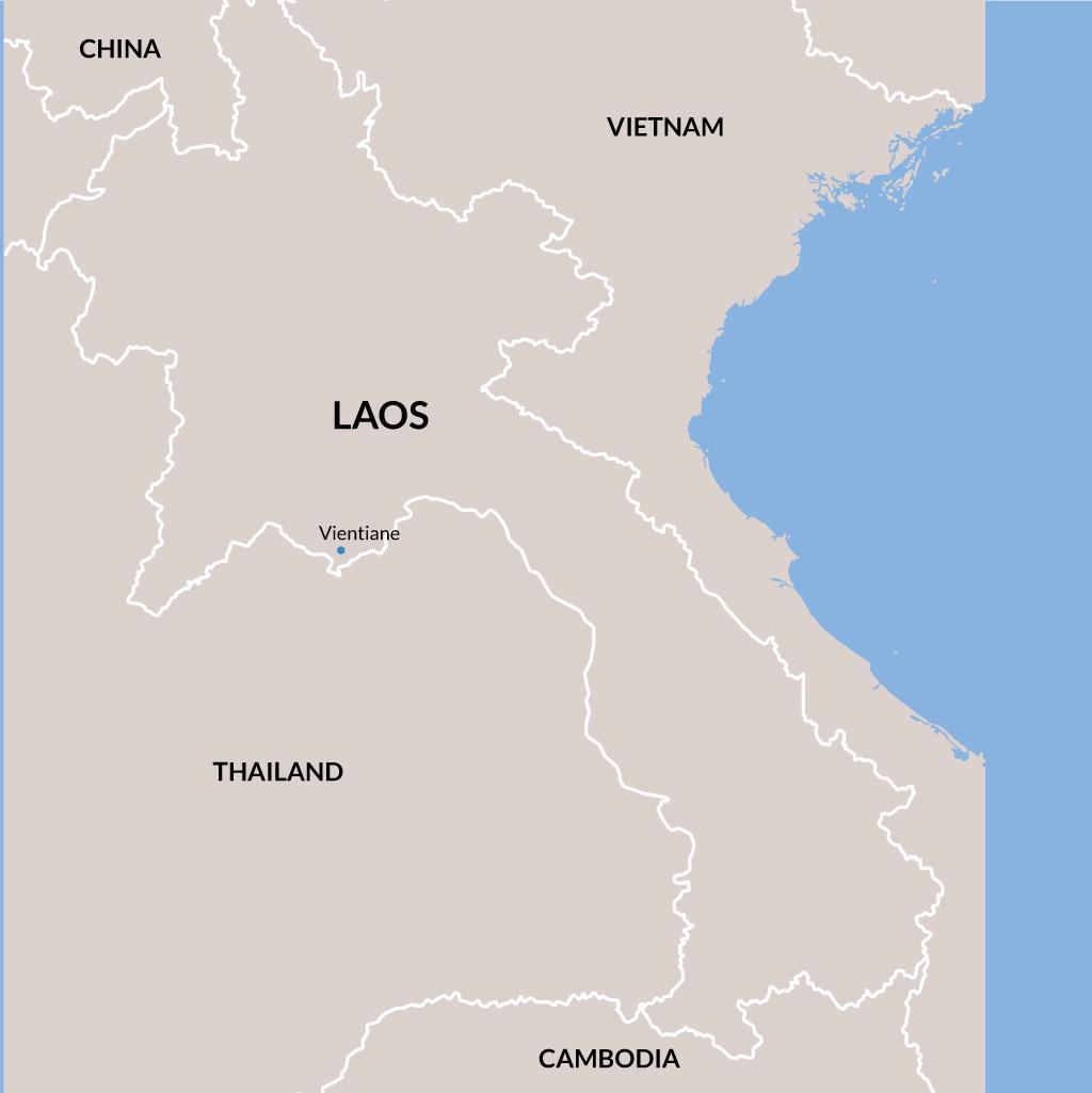 Laos vacation map