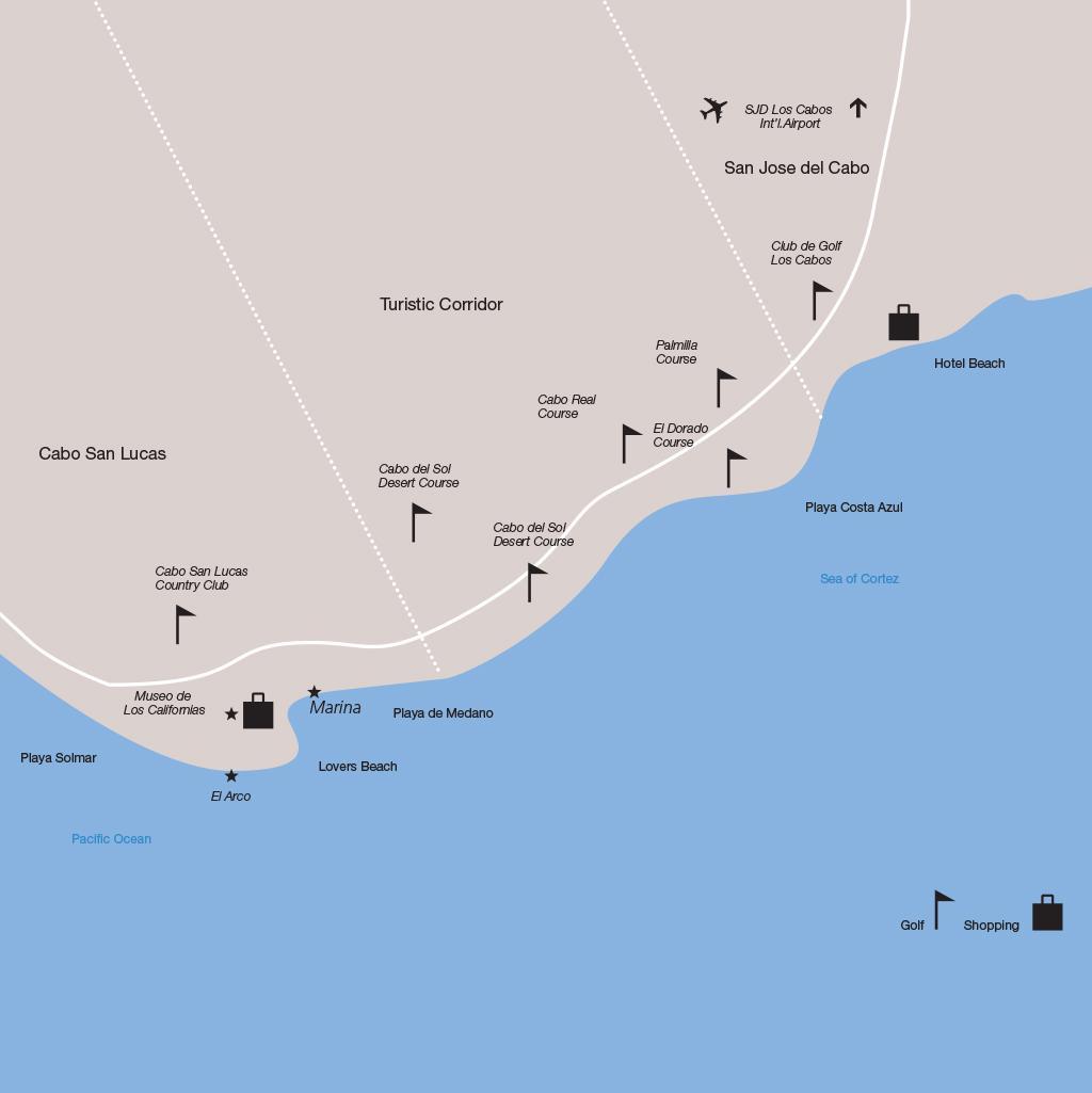 Los Cabos vacations map
