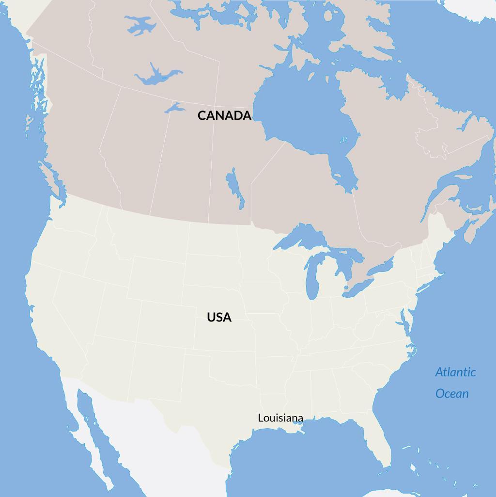 Louisiana vacations map