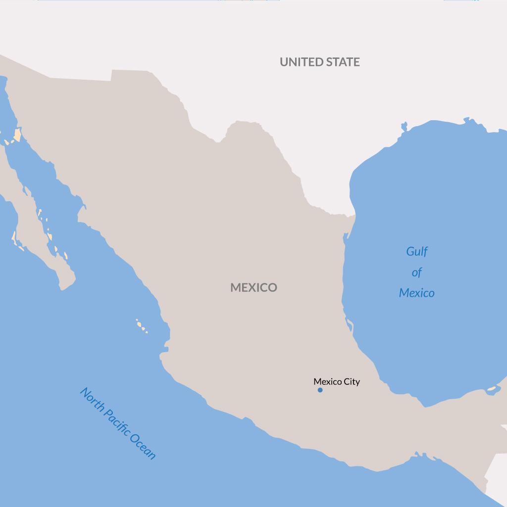 Mexico City vacations map